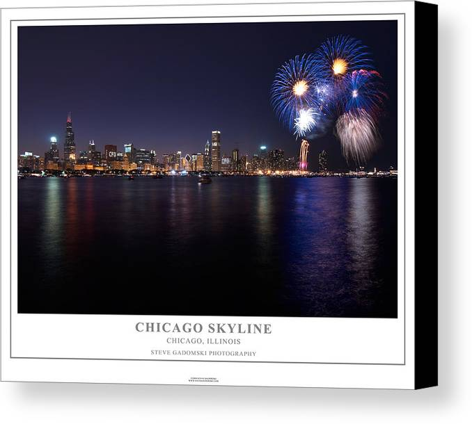 4th Canvas Print featuring the photograph Chicago Lakefront Skyline Poster by Steve Gadomski