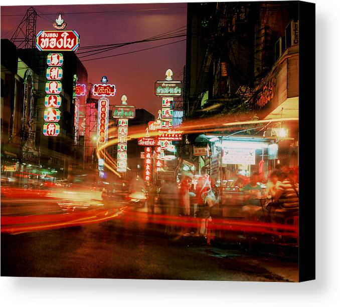 Bangkok Canvas Print featuring the photograph Chinatown In Bangkok by Brad Rickerby