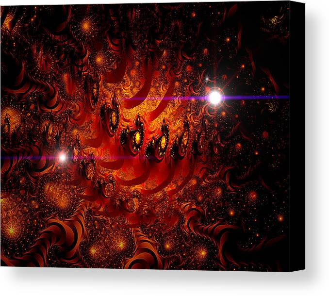 Space Canvas Print featuring the digital art Chinese Dragon Galaxy by Roger Soule