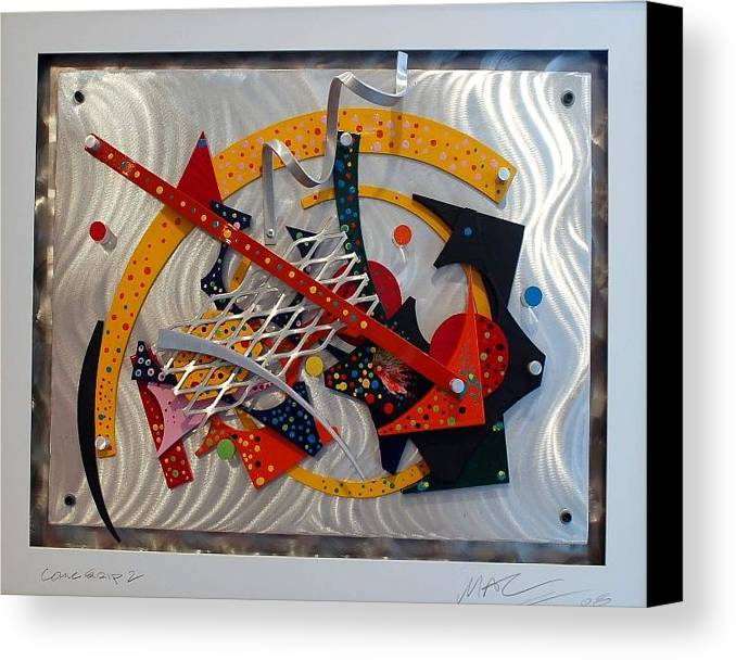 Aluminum Canvas Print featuring the sculpture Comic Strip 2 by Mac Worthington