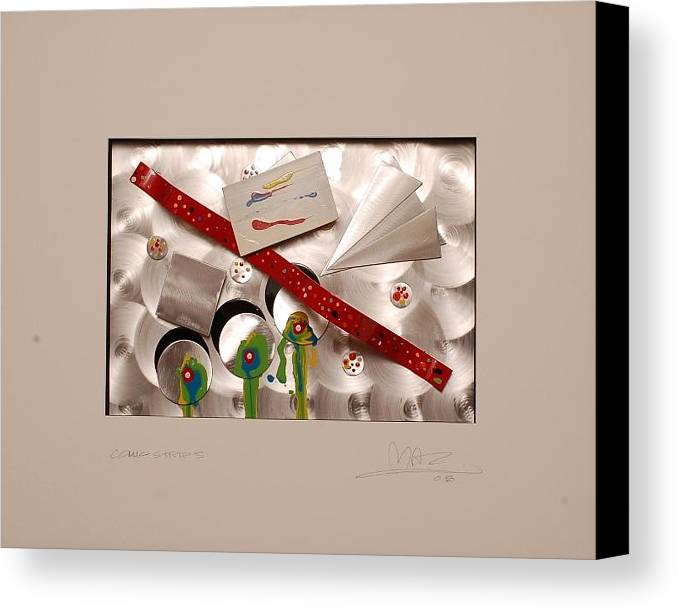 Aluminum Canvas Print featuring the sculpture Comic Strip 5 by Mac Worthington