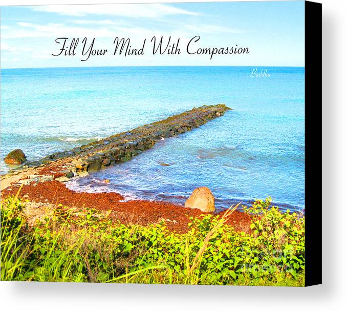 Canvas Print featuring the digital art Compassion by Joseph Re