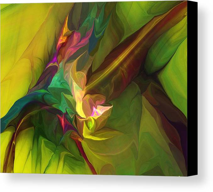 Fine Art Canvas Print featuring the digital art Confluence by David Lane