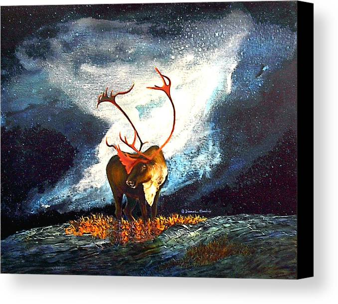 Alaska Canvas Print featuring the painting Coy Diffusion by Dianne Roberson