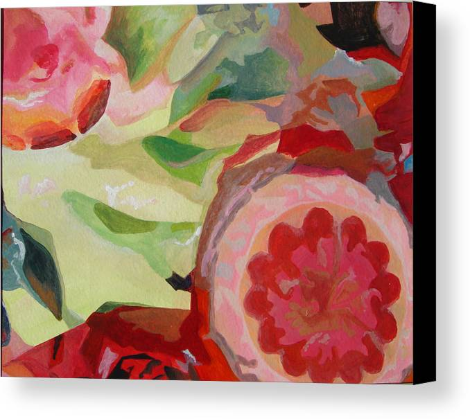 Abstract Canvas Print featuring the painting Decoupage by Muriel Dolemieux