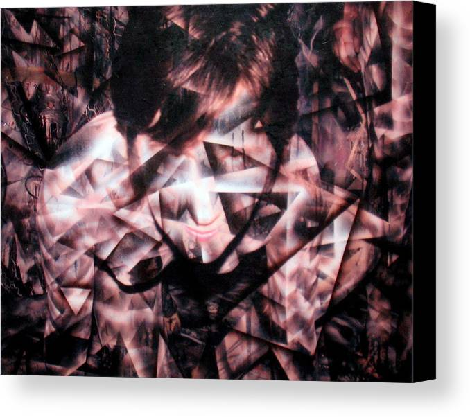 Painting Canvas Print featuring the painting Deirdre Shattered by Leigh Odom
