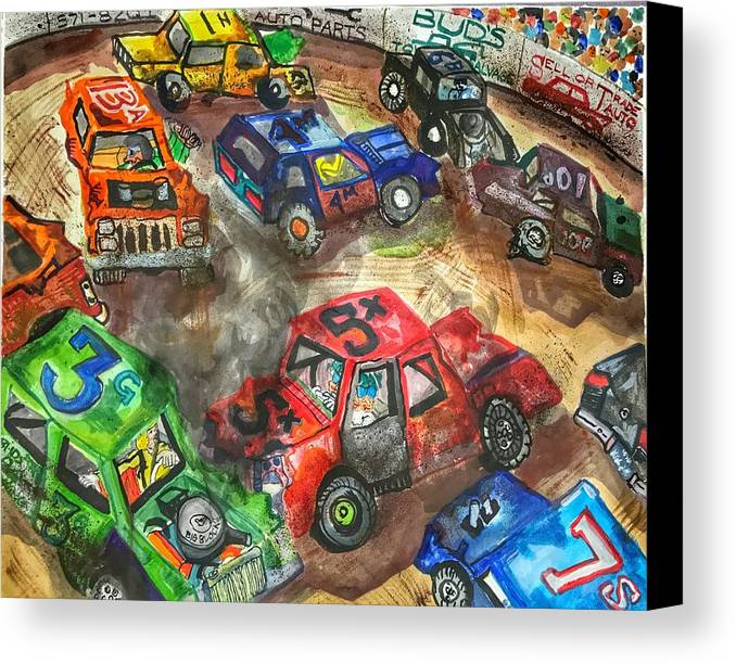 Gm Canvas Print featuring the painting Demo Derby One by Jame Hayes