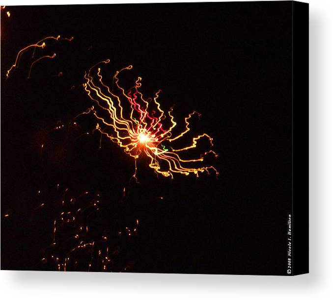 Black Canvas Print featuring the photograph Distant Galaxy by Nicole I Hamilton