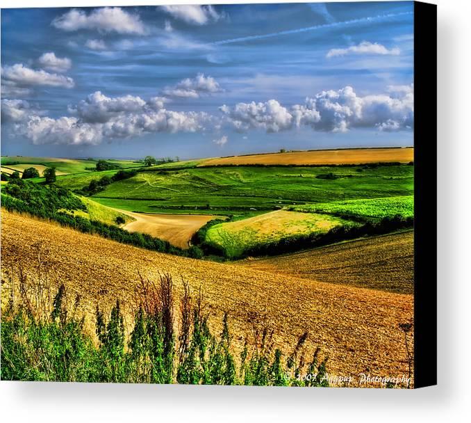 Uk Canvas Print featuring the photograph Dorset Farmland by David J Knight