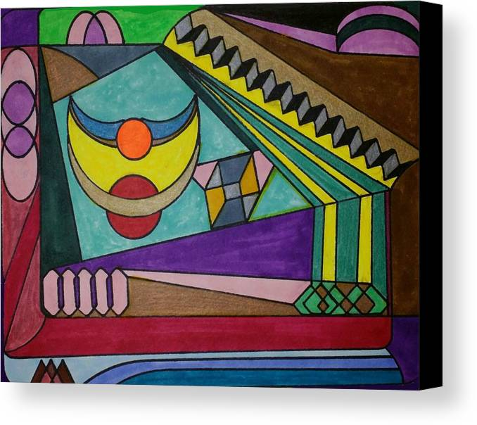 Geometric Art Canvas Print featuring the glass art Dream 77 by S S-ray