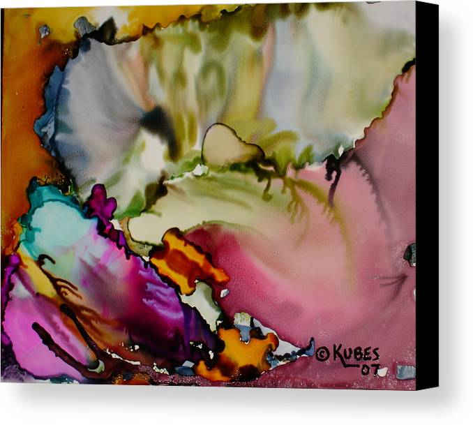 Abstract Canvas Print featuring the painting Dreaming by Susan Kubes