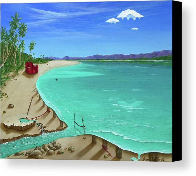 Surreal Painting Canvas Print featuring the painting Easy Living by Sharon Ebert