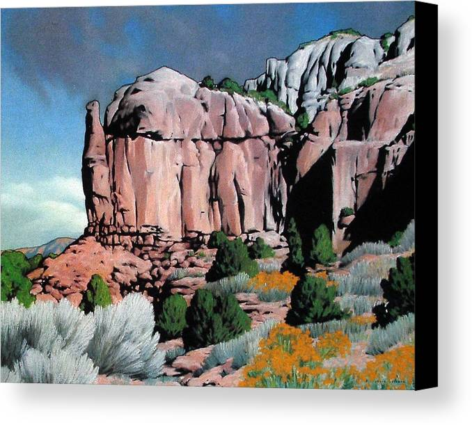 New Mexico Canvas Print featuring the painting Echoes by Kevin Lawrence Leveque