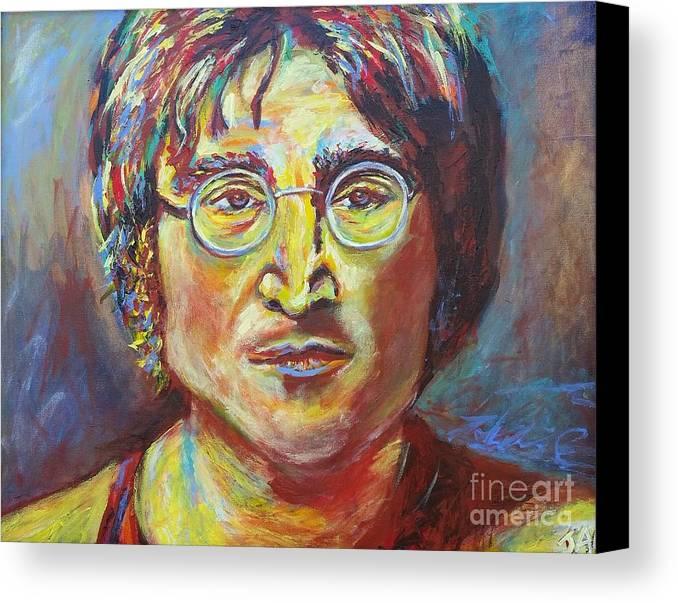 John Lennon Canvas Print featuring the painting Eckleburg John by Jennifer Lombardo