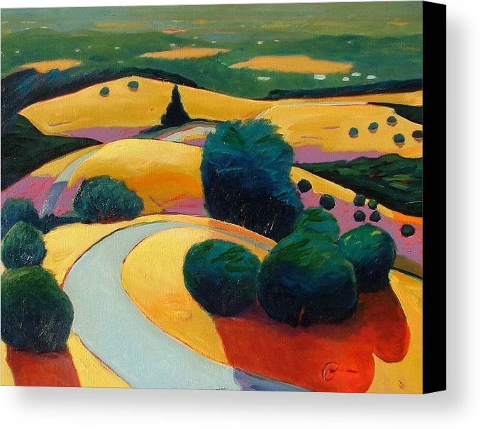 Rolling Hills Canvas Print featuring the painting End In Sight by Gary Coleman