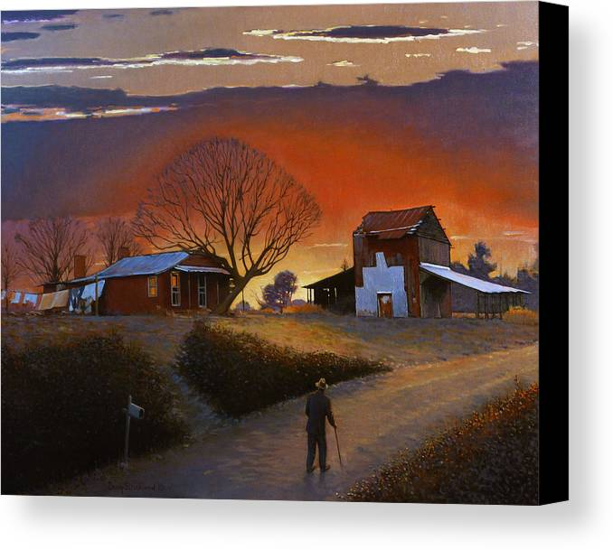 Doug Strickland Canvas Print featuring the painting Endurance by Doug Strickland