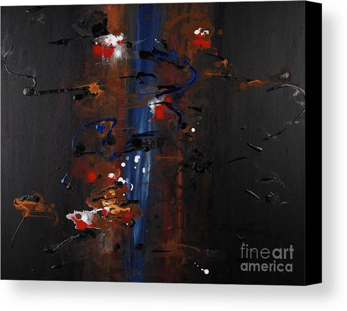 Black Canvas Print featuring the painting Energy by Nadine Rippelmeyer