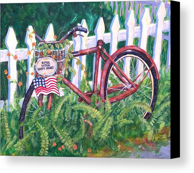 Acrylic Canvas Print featuring the painting Enter With A Happy Heart by Ruth Mabee