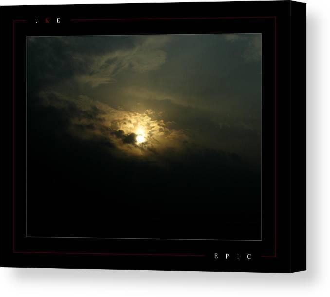 Sun Canvas Print featuring the photograph Epic by Jonathan Ellis Keys