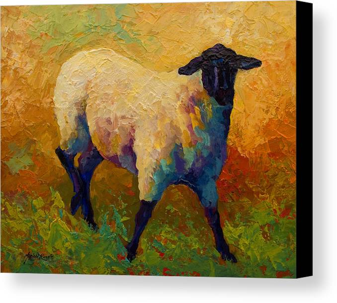 Llama Canvas Print featuring the painting Ewe Portrait Iv by Marion Rose