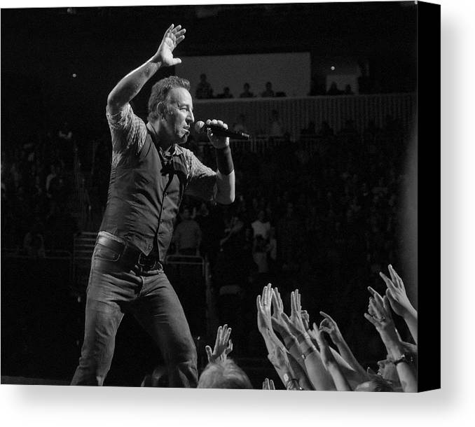 Springsteen Canvas Print featuring the photograph Faith Will Be Rewarded by Jeff Ross