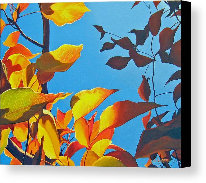 Fall Canvas Print featuring the painting Farewell To Summer by Hunter Jay