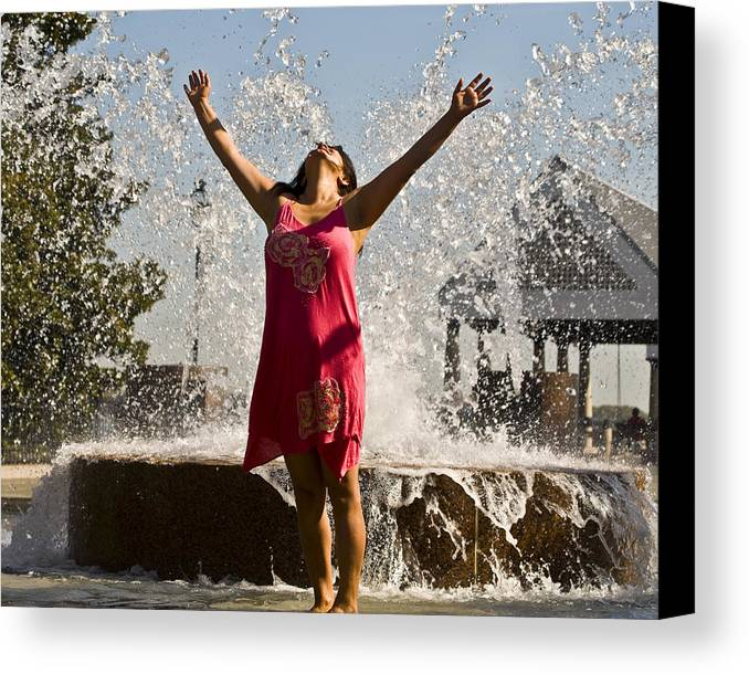 Femme Canvas Print featuring the photograph Femme Fountain by Al Powell Photography USA