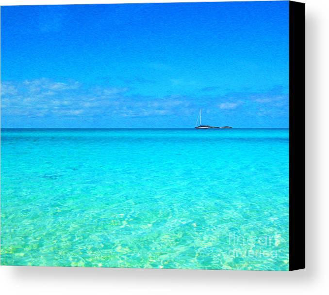Canvas Print featuring the digital art Fernandez Bay Calm by Joseph Re
