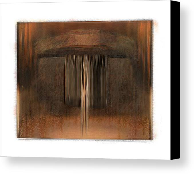 Abstract Canvas Print featuring the digital art First Up Best Dressed by Nuff