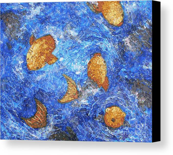 Fish Canvas Print featuring the digital art Fish Face by Susan Clausen