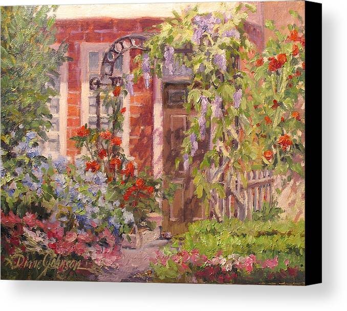 Impressionism Canvas Print featuring the painting Flavor Of England by L Diane Johnson
