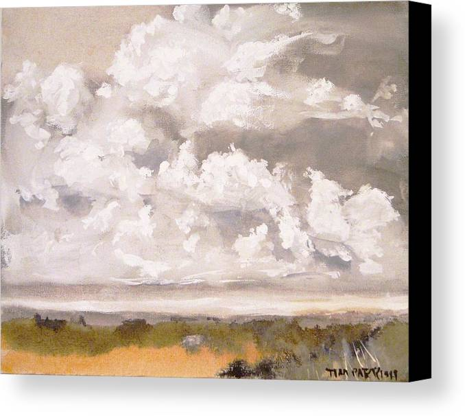 Landscape Canvas Print featuring the painting Florida Landscape Watercolor by Tim Parrish