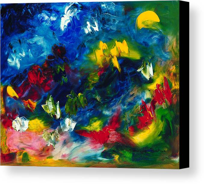 Abstract Canvas Print featuring the painting Fly by Dominique Boutaud