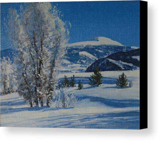 Landscape Canvas Print featuring the painting Frost Tapestry by Lanny Grant