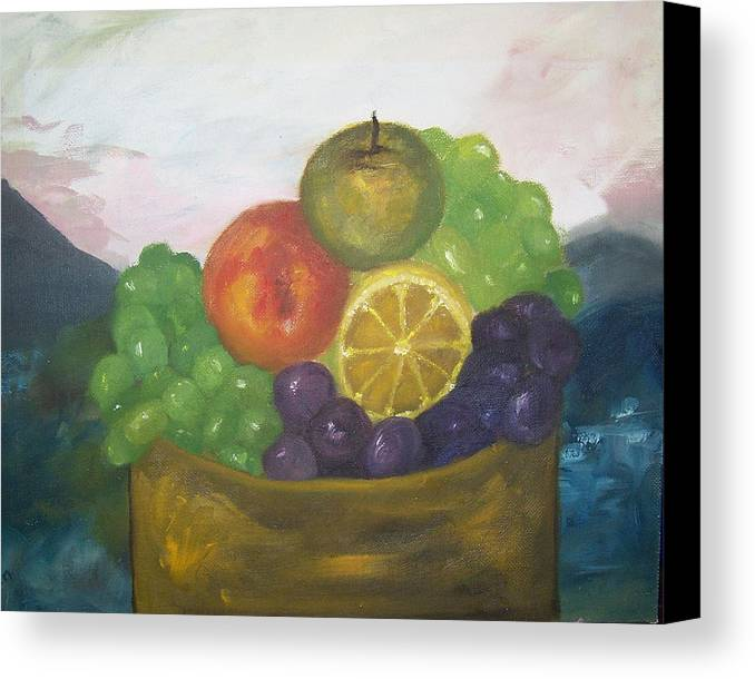 Oil Painting Canvas Print featuring the painting Fruit Of The Land by Pamela Wilson