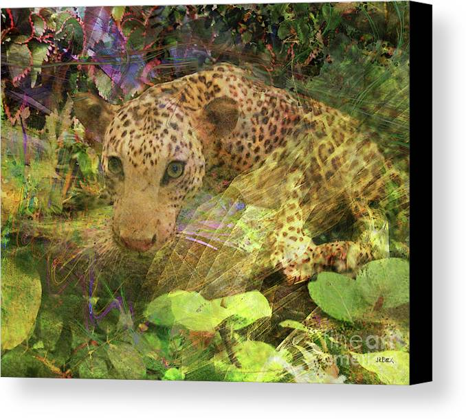 Game Spotting Canvas Print featuring the digital art Game Spotting by John Beck