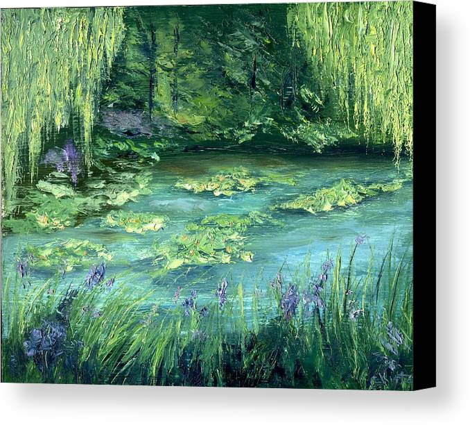 Giverny Canvas Print featuring the painting Giverny by Gail Kirtz