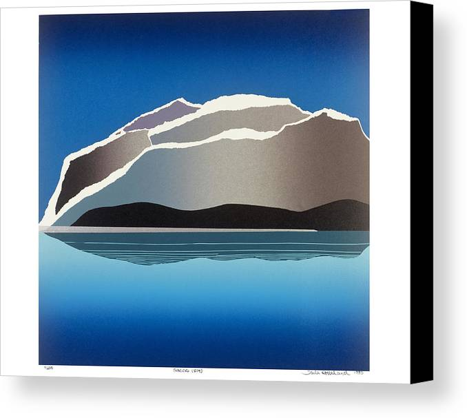Landscape Canvas Print featuring the mixed media Glaciers by Jarle Rosseland