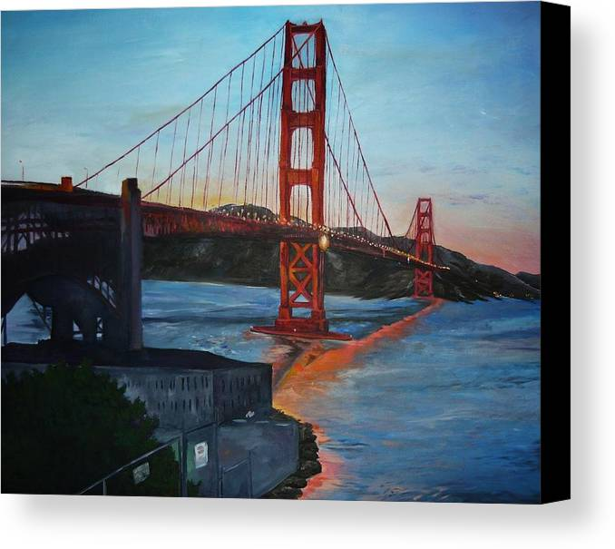 San Francisco Canvas Print featuring the painting Golden Gate by Travis Day