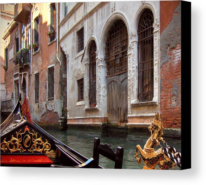 Gondola Canvas Print featuring the photograph Gondola by Julie Geiss