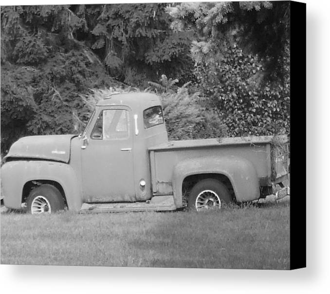 Truck Canvas Print featuring the photograph Grounded Pickup by Pharris Art