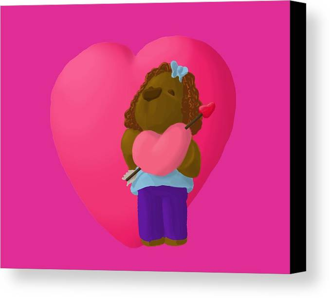 Valentine's Day Canvas Print featuring the painting Have A Heart by Jason Sharpe