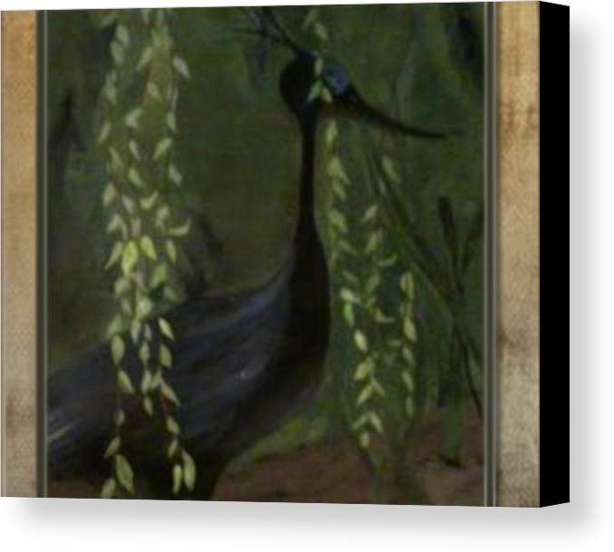 Heron Canvas Print featuring the painting Heron by Michelle Teague