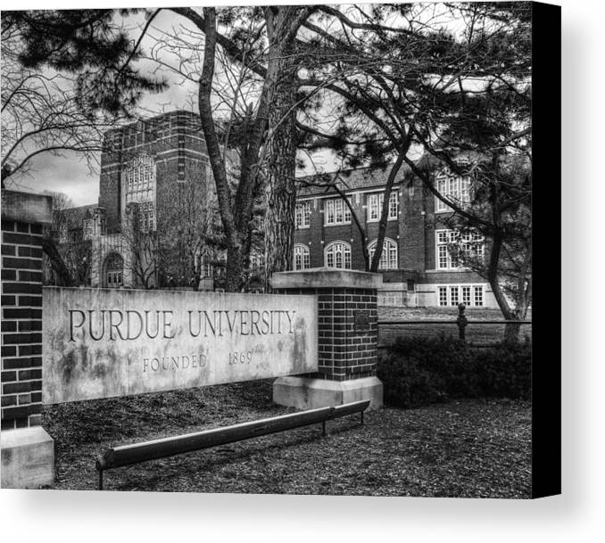 Purdue Canvas Print featuring the photograph Home Of The Boilers by Coby Cooper
