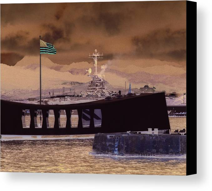 Hawaii Canvas Print featuring the photograph Hornet In Pearl by Mike Ray