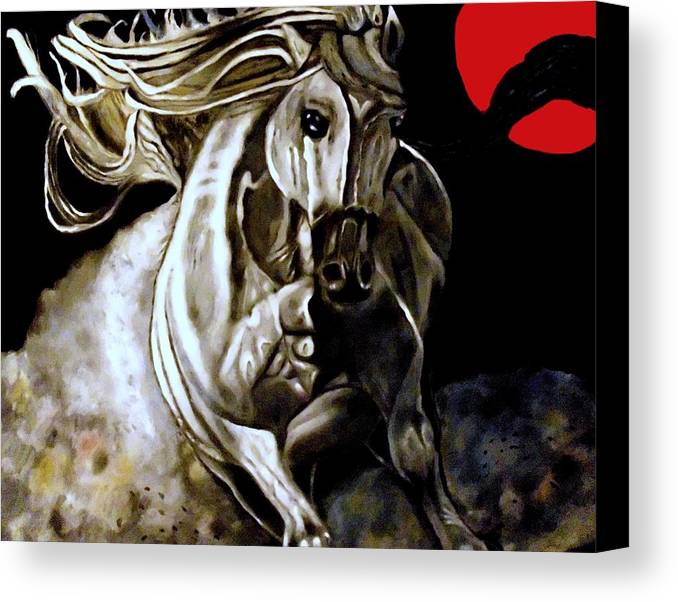 Horse Canvas Print featuring the painting Horse Power by Herbert Renard
