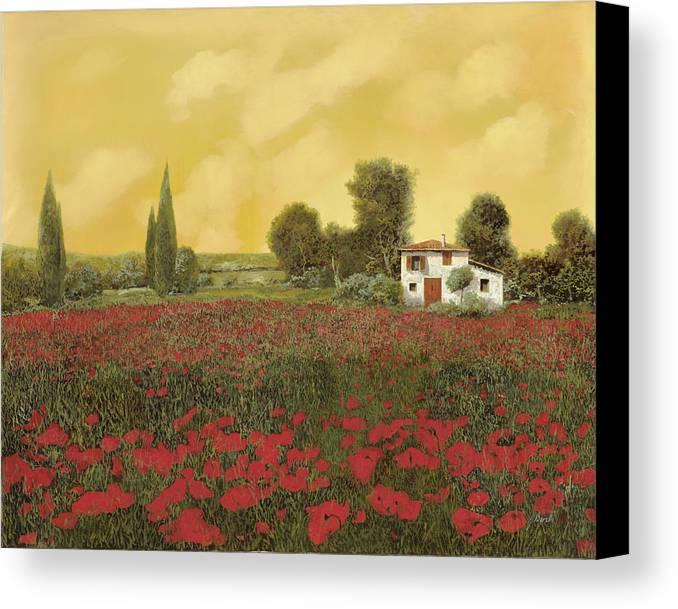 Summer Canvas Print featuring the painting I Papaveri E La Calda Estate by Guido Borelli