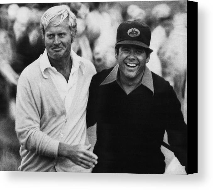 1970s Canvas Print featuring the photograph Jack Nicklaus, Lee Trevino, At The U.s by Everett