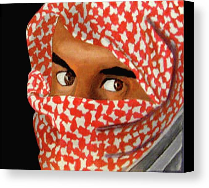 Iraqi Canvas Print featuring the painting Jihadi by Darren Stein