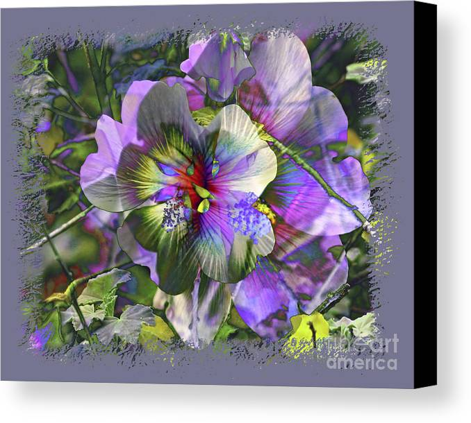 Flower Canvas Print featuring the photograph Kaleidoscope Pollen by Chuck Brittenham